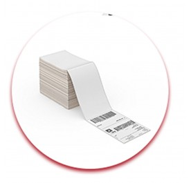 "Fanfold 4"" x 6"" Direct Thermal Labels White  Perforated Zebra Eltron Shipping Labels"